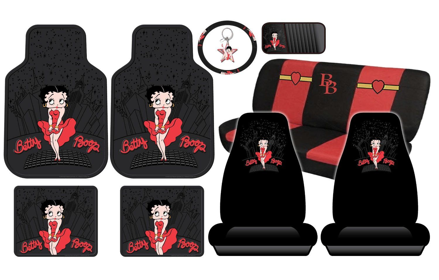 Betty The Boop Auto Car Accessories Red