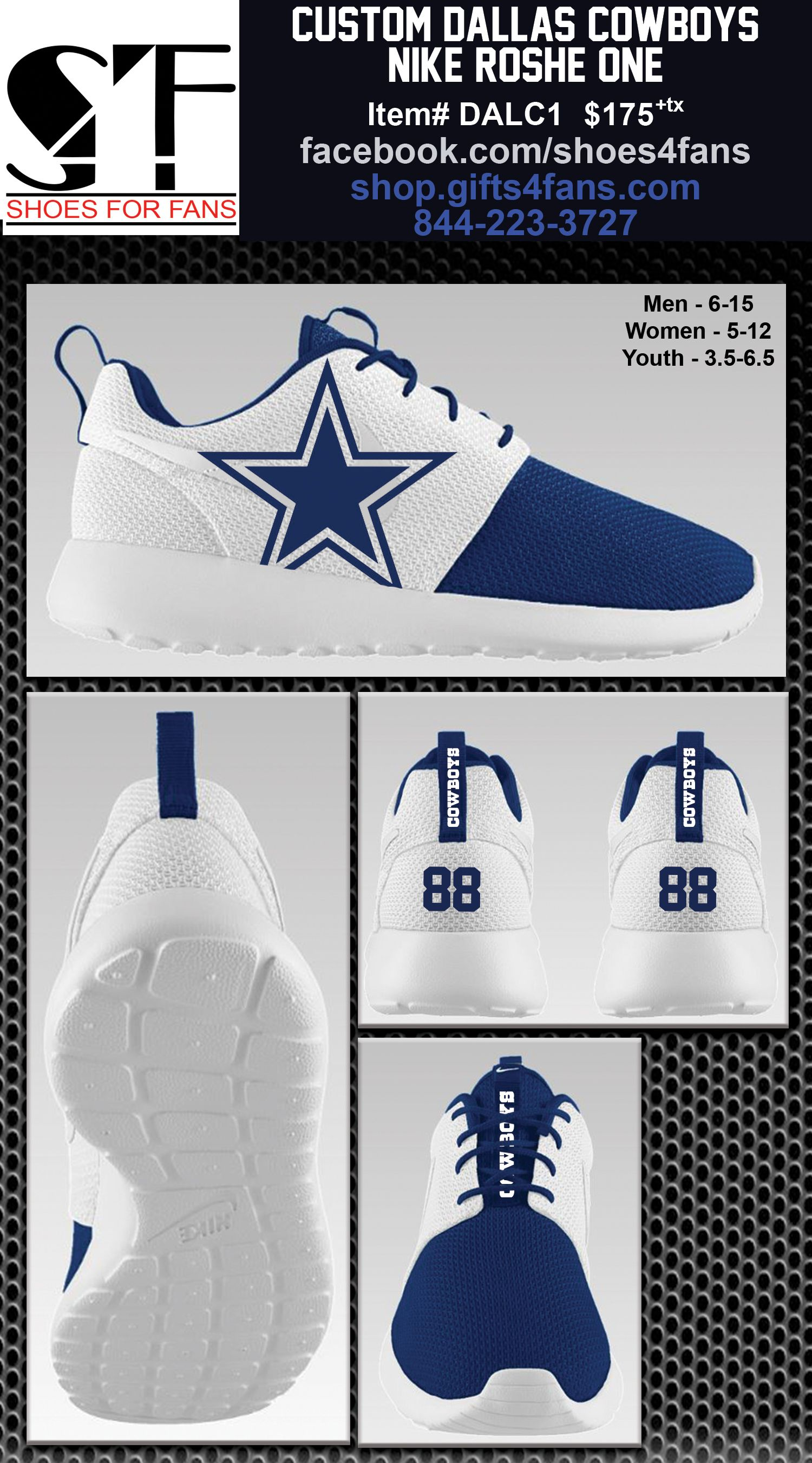 Cheap Dallas Cowboys Nike Roshe One Shoes | I LOVE MY COWBOYS!!! | Dallas