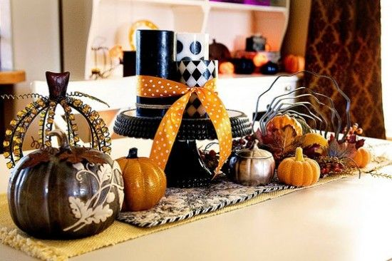 Table Kitchen Decorating Ideas Halloween Could be switched up a bit - fall halloween decorating ideas