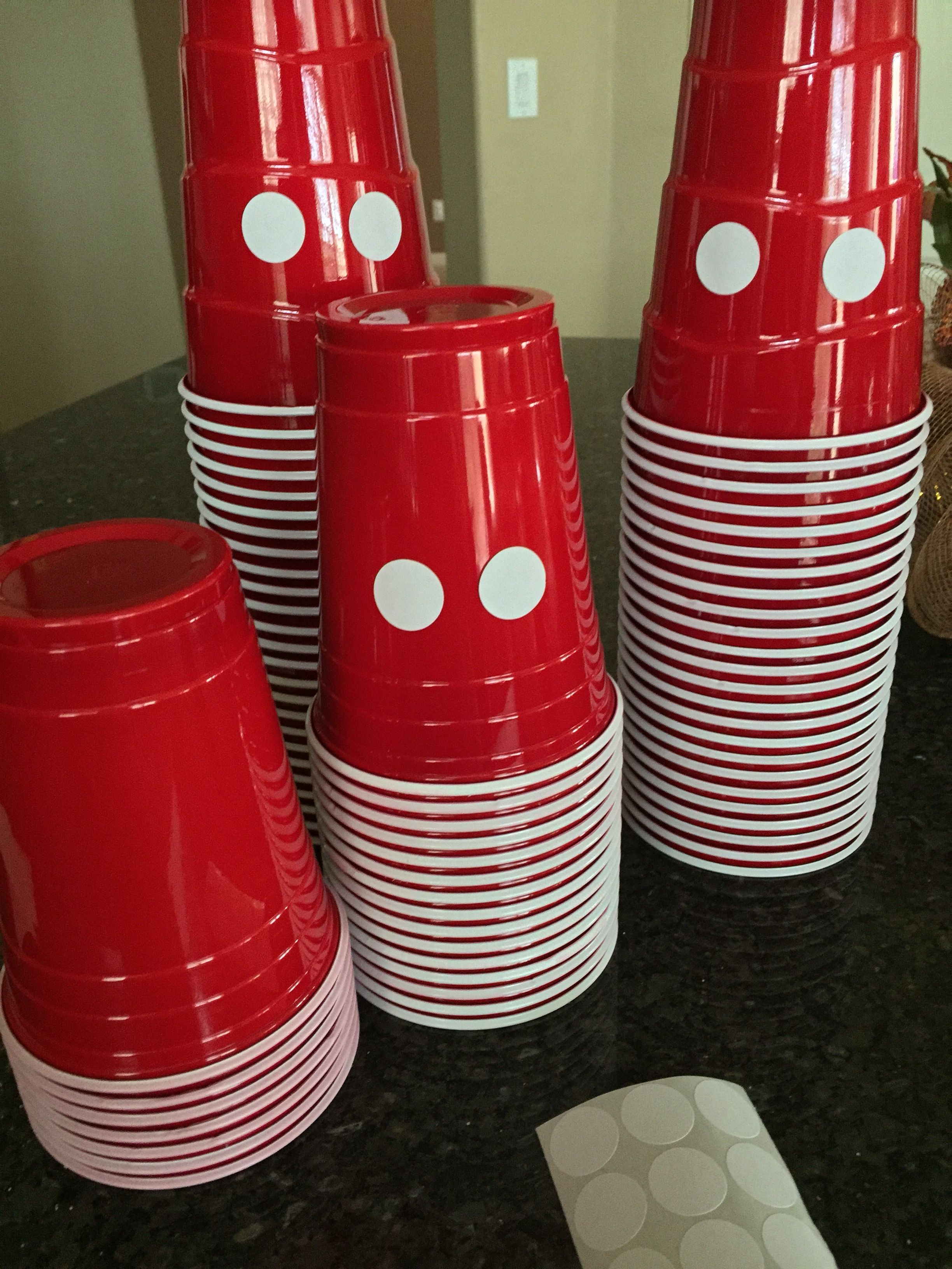 Mickey Mouse Birthday Theme First One Year Old Diy Decor Michey Cups