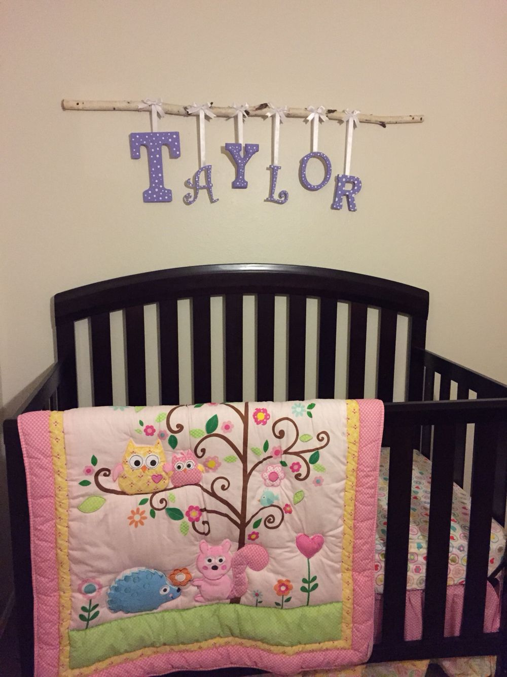 Diy, woodland theme baby girl nursery