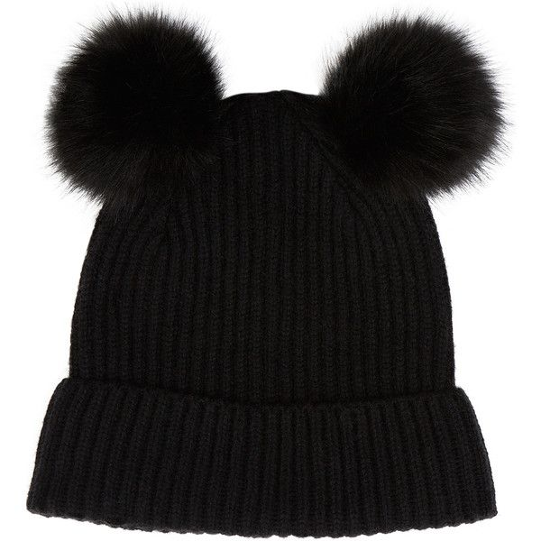 Accessorize Dani Double Pom Beanie Hat ($17) ❤ liked on Polyvore featuring accessories, hats, oversized beanie hats, pompom hat, oversized beanie, pom pom beanie hat and cold weather hats