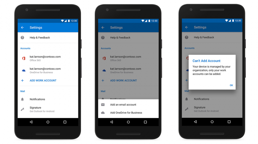 Microsoft Adds More Business Management Function To Its Outlook Mobile Email App Small Business Trends Business Management Calendar Sharing Phone Organization