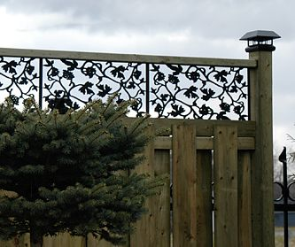 Pin By Judy Burton On Landscaping Backyard Fences Fence Toppers Fence Design