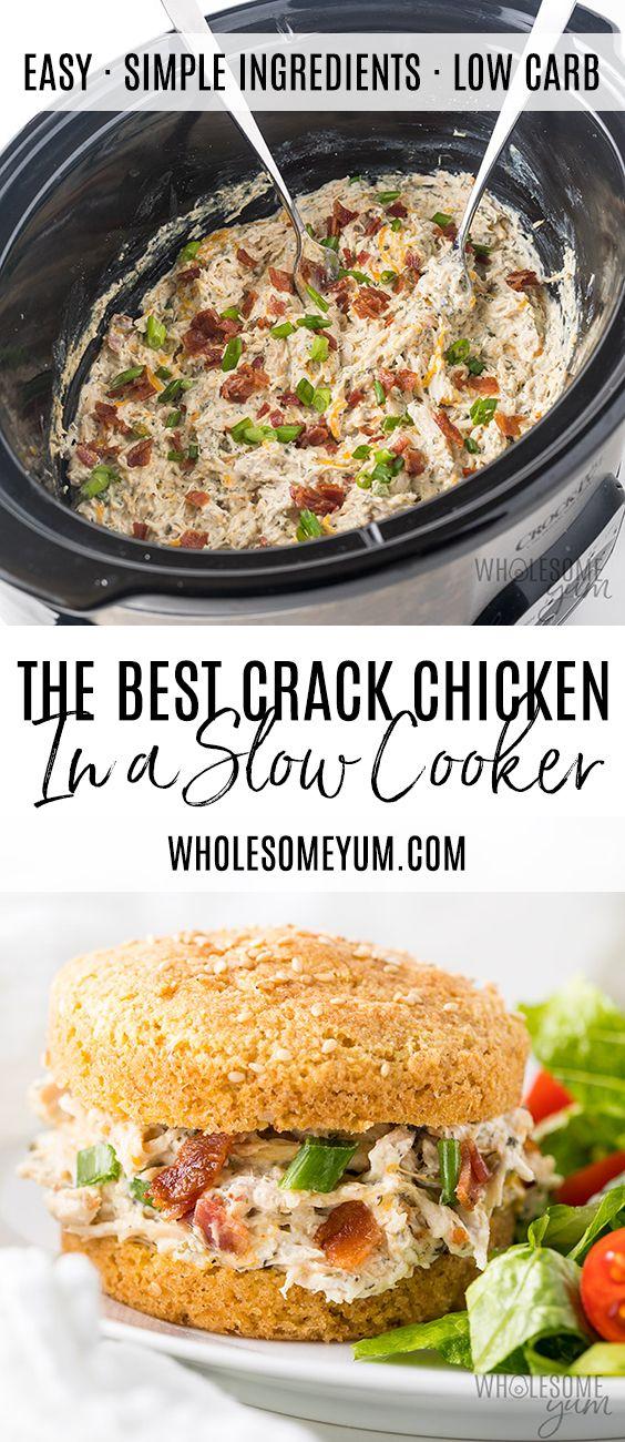 Crock Pot Slow Cooker Crack Chicken Recipe images