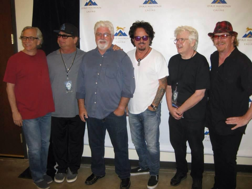 My favorites (Toto) just kicked off the US tour they are co-headlining with Michael McDonald. Could there be a more amazing line-up?? #steviep #paich #mikemcd #luke #hungate #williams #toto