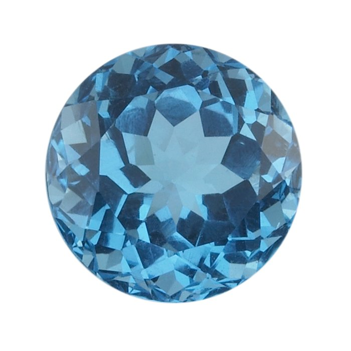 Round 4mm Swiss Blue Topaz Faceted Stone AA Grade This