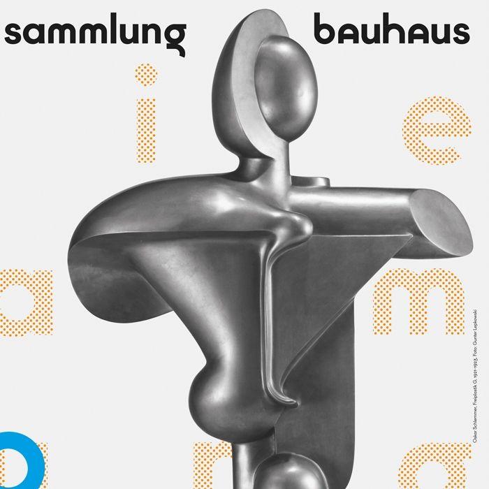 plakat: neu präsentiert - die sammlung bauhaus + 100 neue objekte