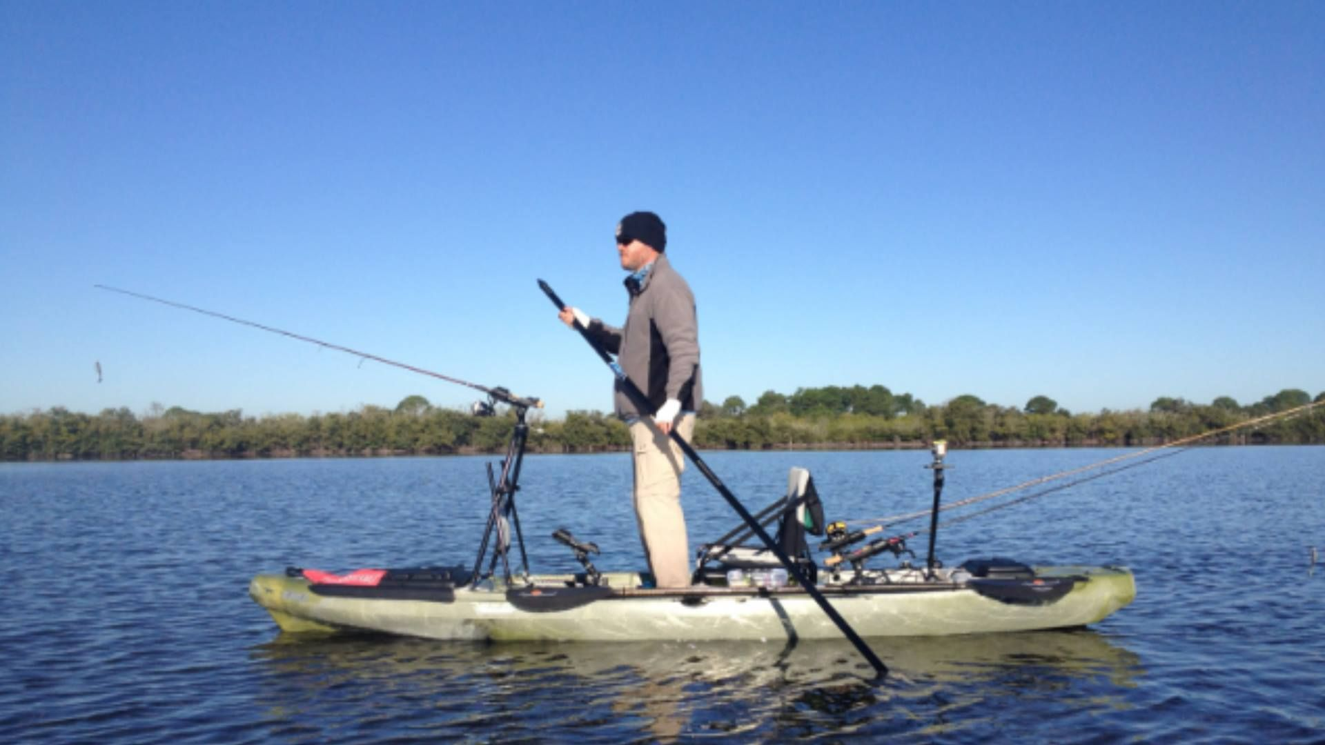 The new jackson kayak big rig has been rigged with for Fishing jackson kayak