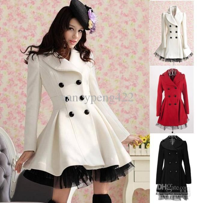 8840be62830c Coat Outerwear - Buy Sale 2013 Autumn Winter White Wool Blends Outerwear  Skirt Design Red Black Cute Fashion Ladies Slim A-Line Warm Coat Clothes.