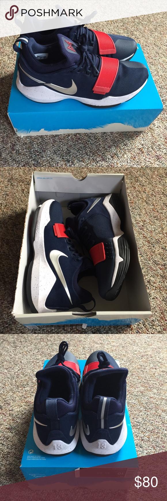 Nike PG1 USA Olympics Blue Shoes Men's 10 NWB PG 1