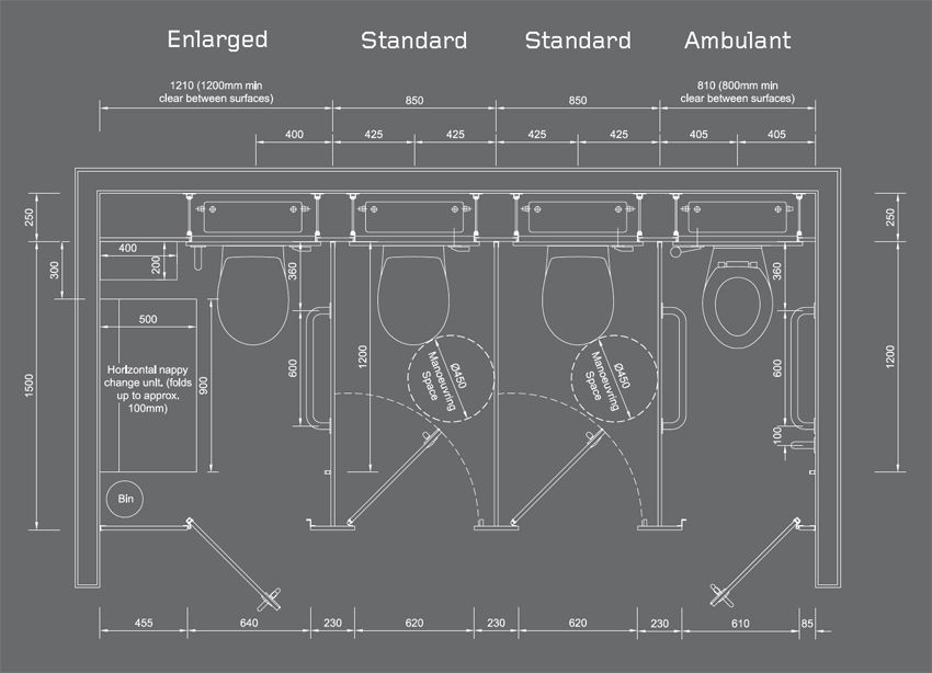 Design Equality Toilets Layout Plans Forward Toilet Cubicle Dimensions