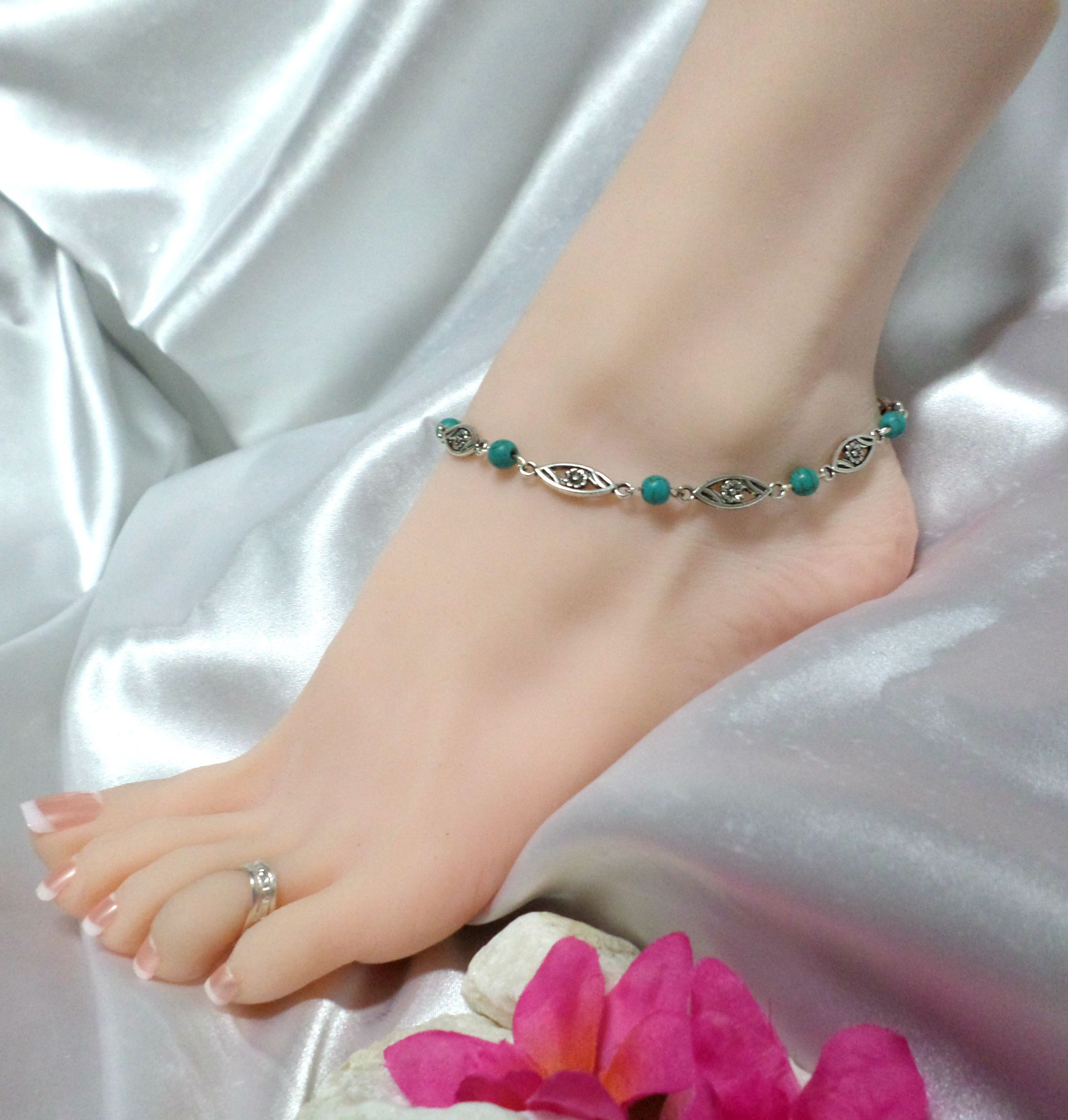 beaded ankle women popular anklet bracelets bracelet for beautiful oblacoder beads toe