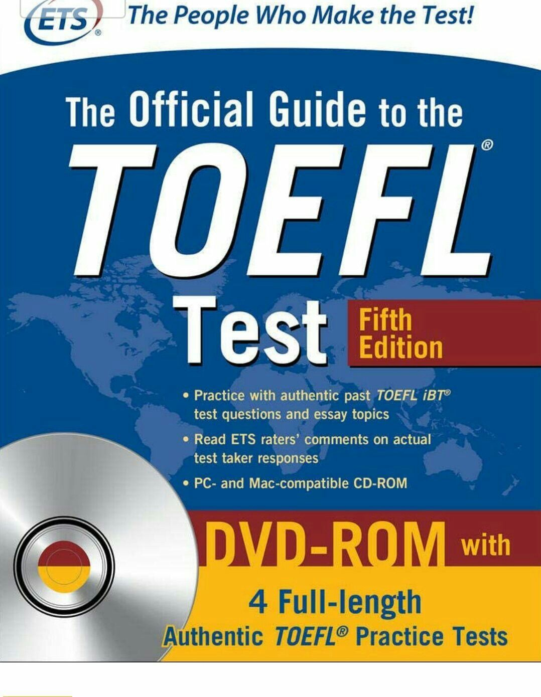The Official Guide To The Toefl Test With Dvd Rom Fifth Edition In 2020 Toefl Test Toefl Toefl Practice