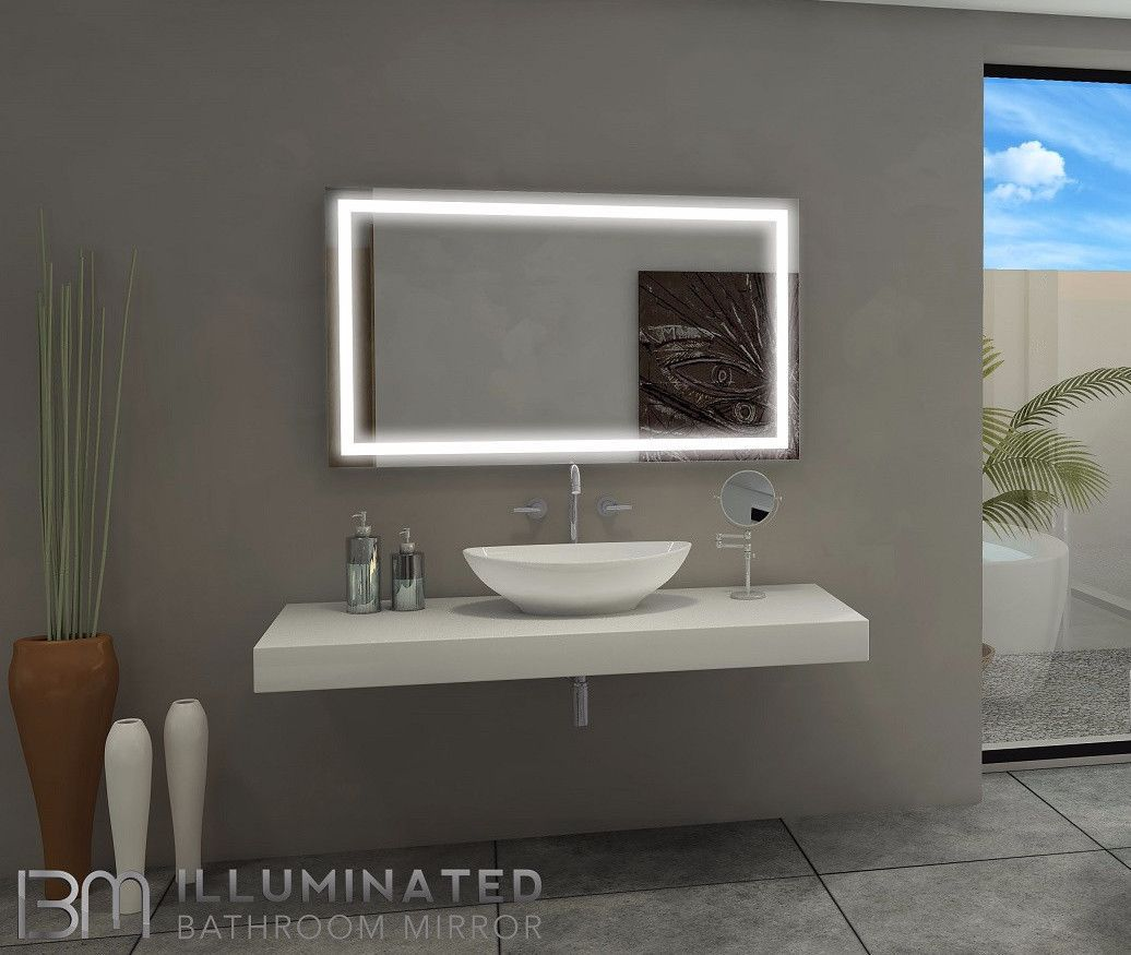 Lighted Bathroom Mirror Size H 48 X W 28 X D 2 Inches