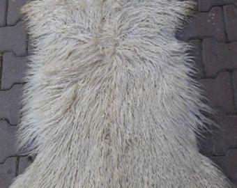 Goat Skin Whit Long Hair Turkish Angora