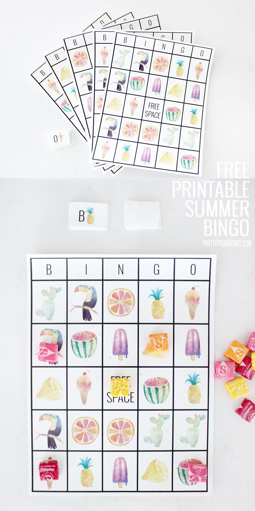 Free Printable Adorable Summer Bingo Cards With Images Summer