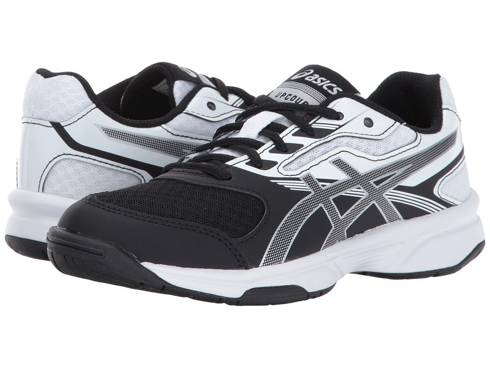 Asics Kids Gel Upcourt 2 Gs Volleyball Little Kid Big Kid Kids Shoes Black Silver White Girls Shoes Tween Kids Shoe Stores Volleyball Shoes