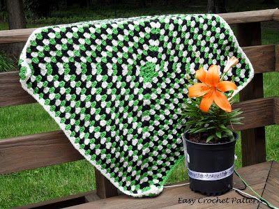 Easy Crochet Pattern Never Ending Granny Square Afghan Progress