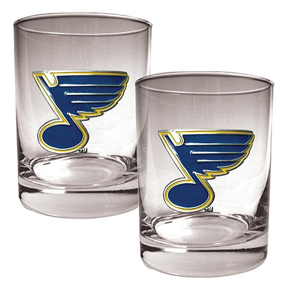 Great American Products St. Louis Blues 2pc Rocks Glass Set