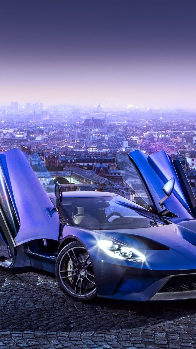 Ford Gt Supercar Concept Blue Sports Car Luxury Cars Test