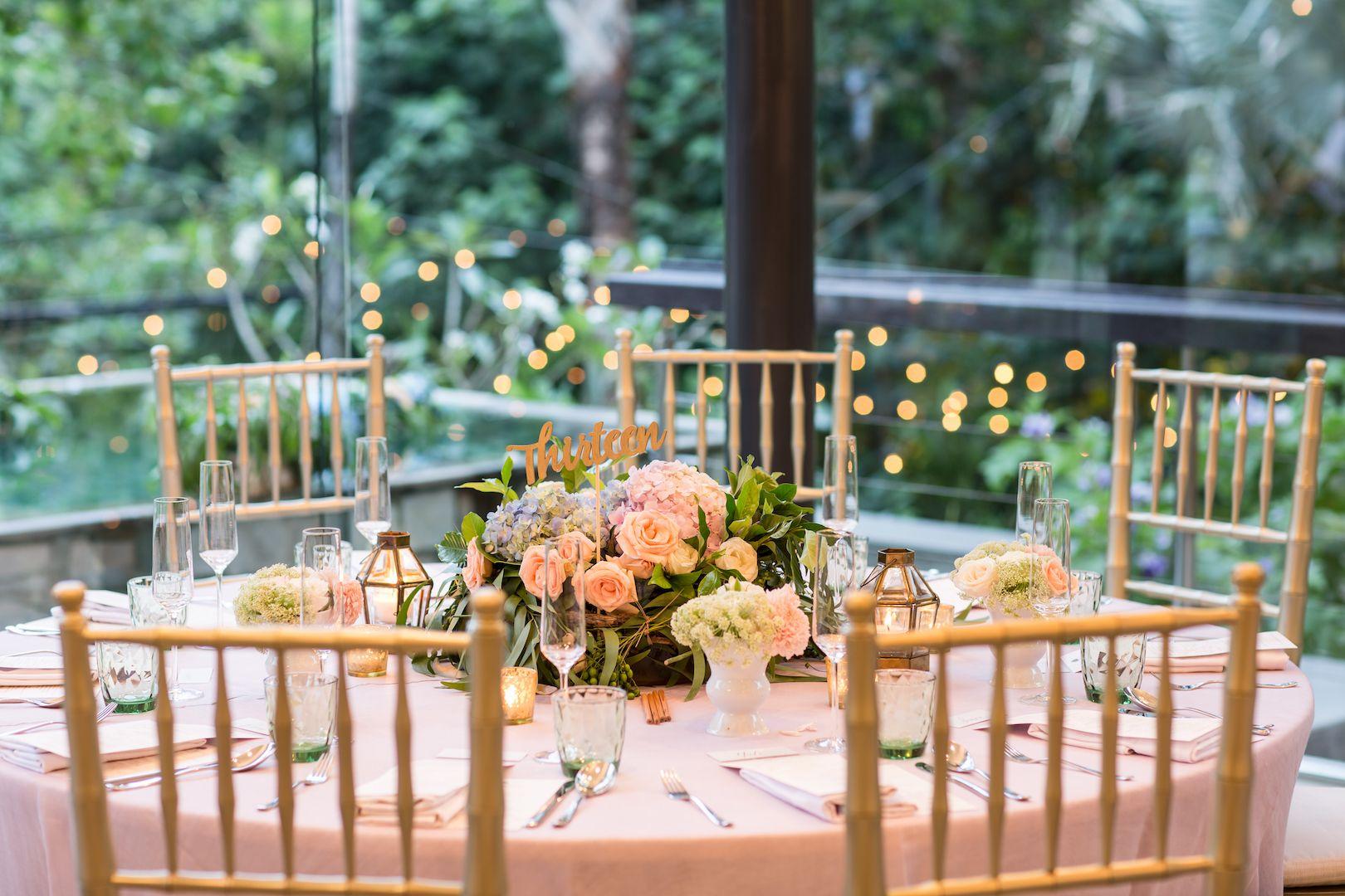 Fairy Tale Wedding Guest Table in Dusk