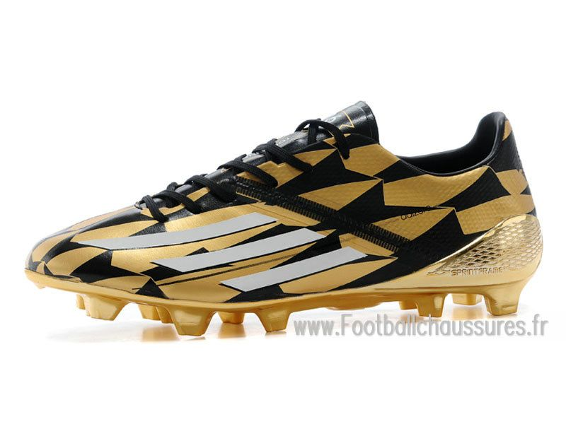 new arrival a0926 51bbb Adidas Homme Chaussures F50 Adizero FG Messi Solar Gold M17682 Adidas f50  2014 Solar Gold  Metallic Silver M17683
