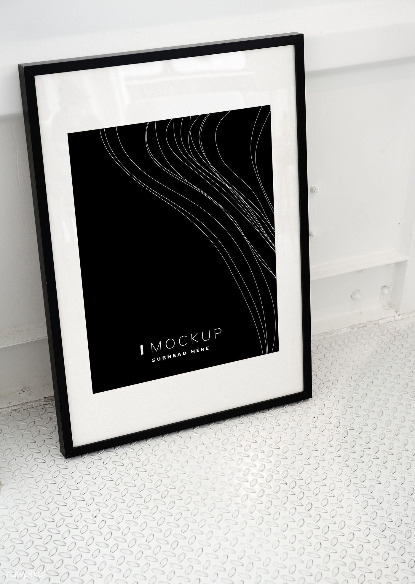Download Premium Psd Of Black Picture Frame Mockup On The Floor 502803 Kirkland Home Decor Frame Mockups Black Picture Frames