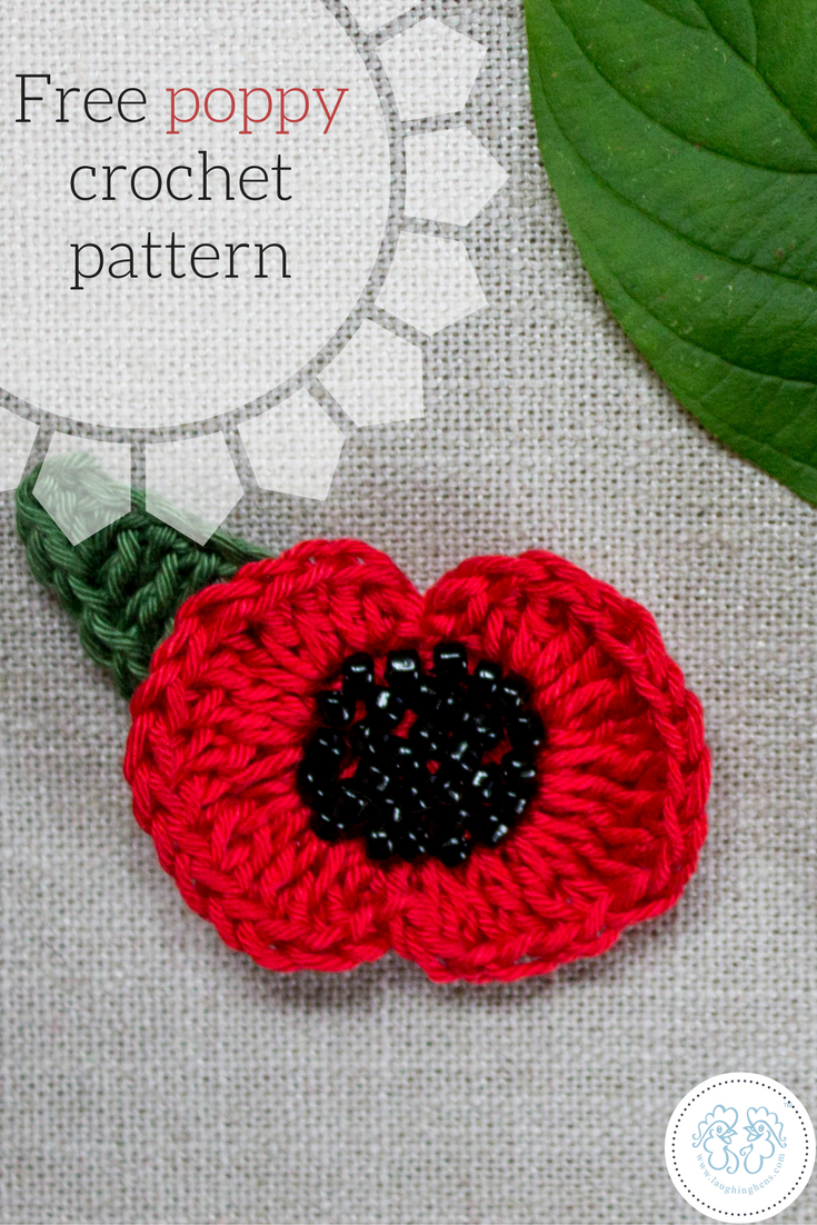 Free poppy crochet pattern by anna nikipirowicz laughing the o crochet free poppy crochet pattern bankloansurffo Image collections