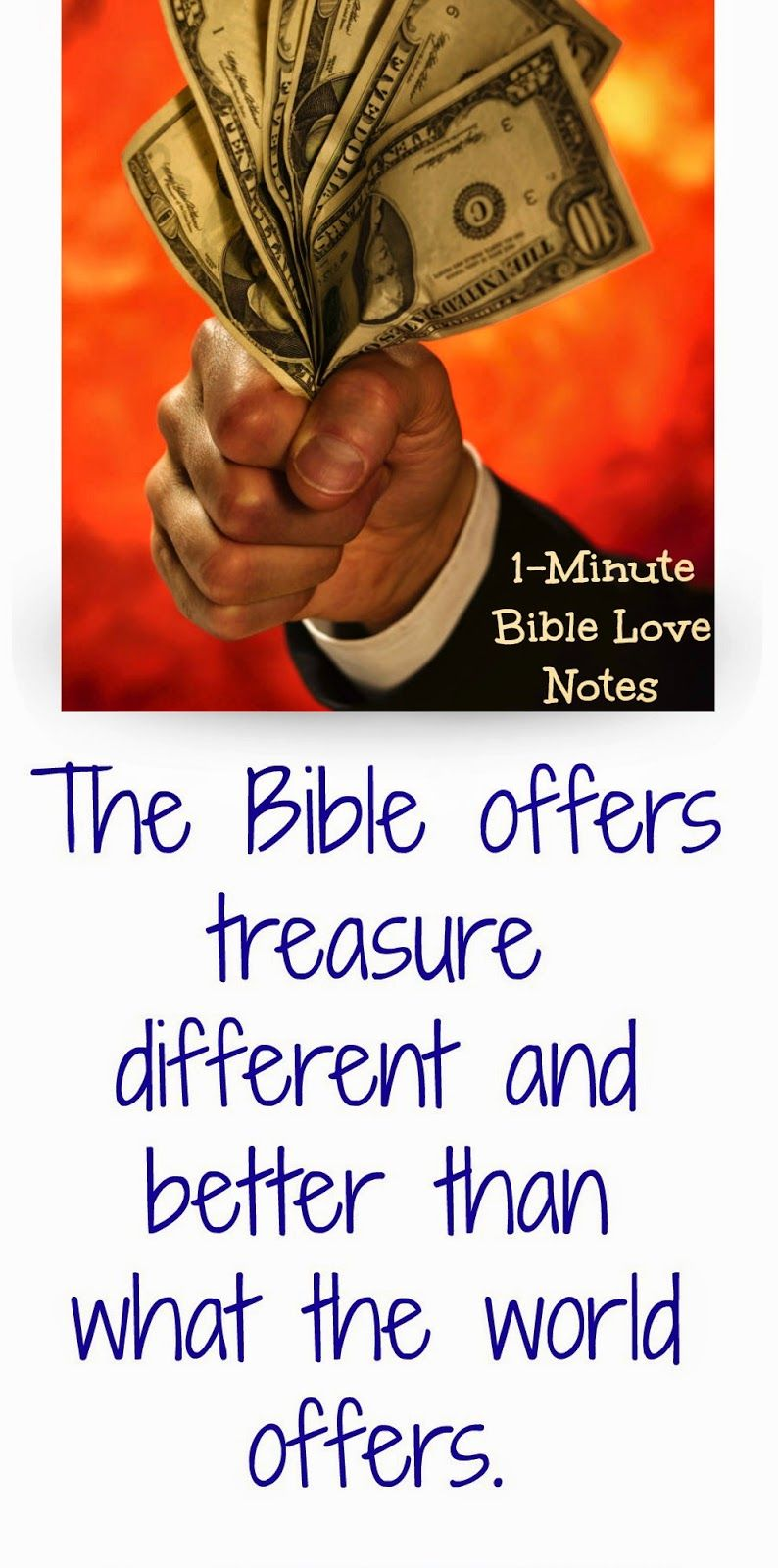 We have something more valuable than gold in God's Word. This 1-minute devotion explains the God's Word * Revives the soul * Makes us wise * Gives us insight * Warns us of harm...and more.