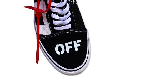 f663a5e4b077b6 Vans Old Skool Off White Inspired Theme Custom Shoes-Vans