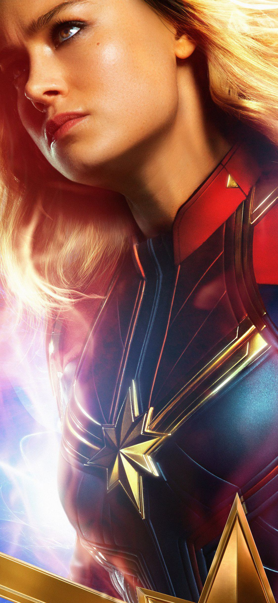 Brie Larson As Carol Danvers In Captain Marvel In 1125x2436 Resolution Captain Marvel Marvel Comics Wallpaper Brie Larson