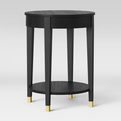 online retailer 837da b2681 Duxbury Round Side Table Black - Threshold | Desks & Tables ...