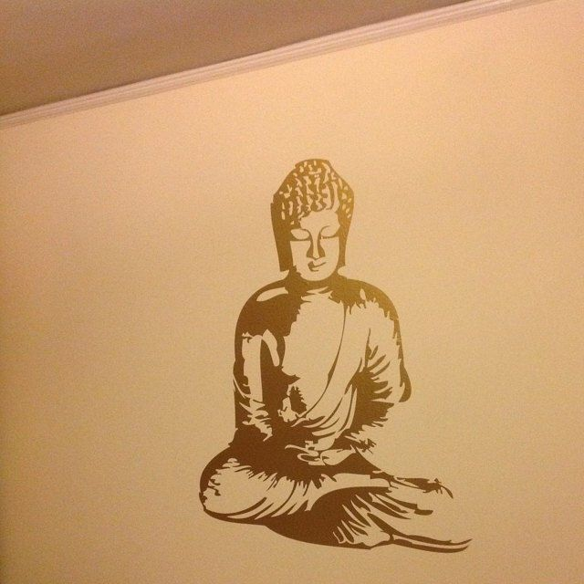 Buddha Wall Art Dorm Asian Wall Decal Buddha Wall Decal Nursery Wall Decal