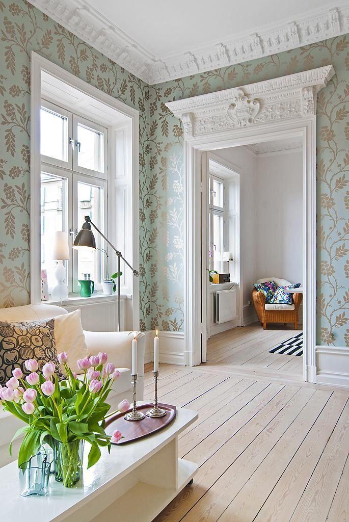 vardagsrum tapeten pinterest tapeten inspiration und wohnen. Black Bedroom Furniture Sets. Home Design Ideas