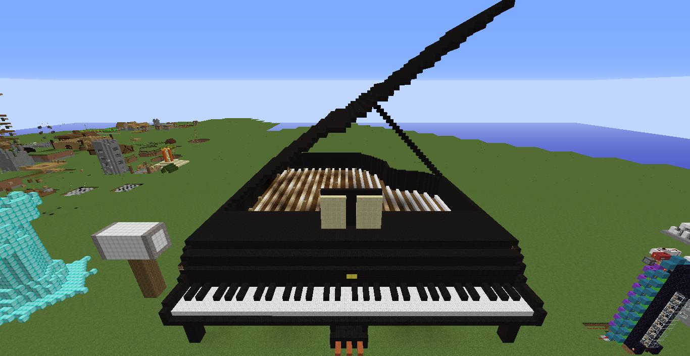 Minecraft grand piano | Minecraft | Piano, Minecraft, Music