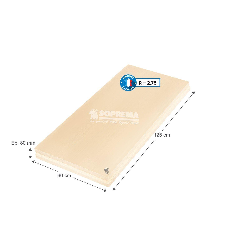 Panneau Polystyrene Extrude L 0 6 X L 1 25 X Ep 80 Mm Rr1 A R3 Soprema Panneau Polystyrene Extrude Isolation Toiture Et Polystyrene