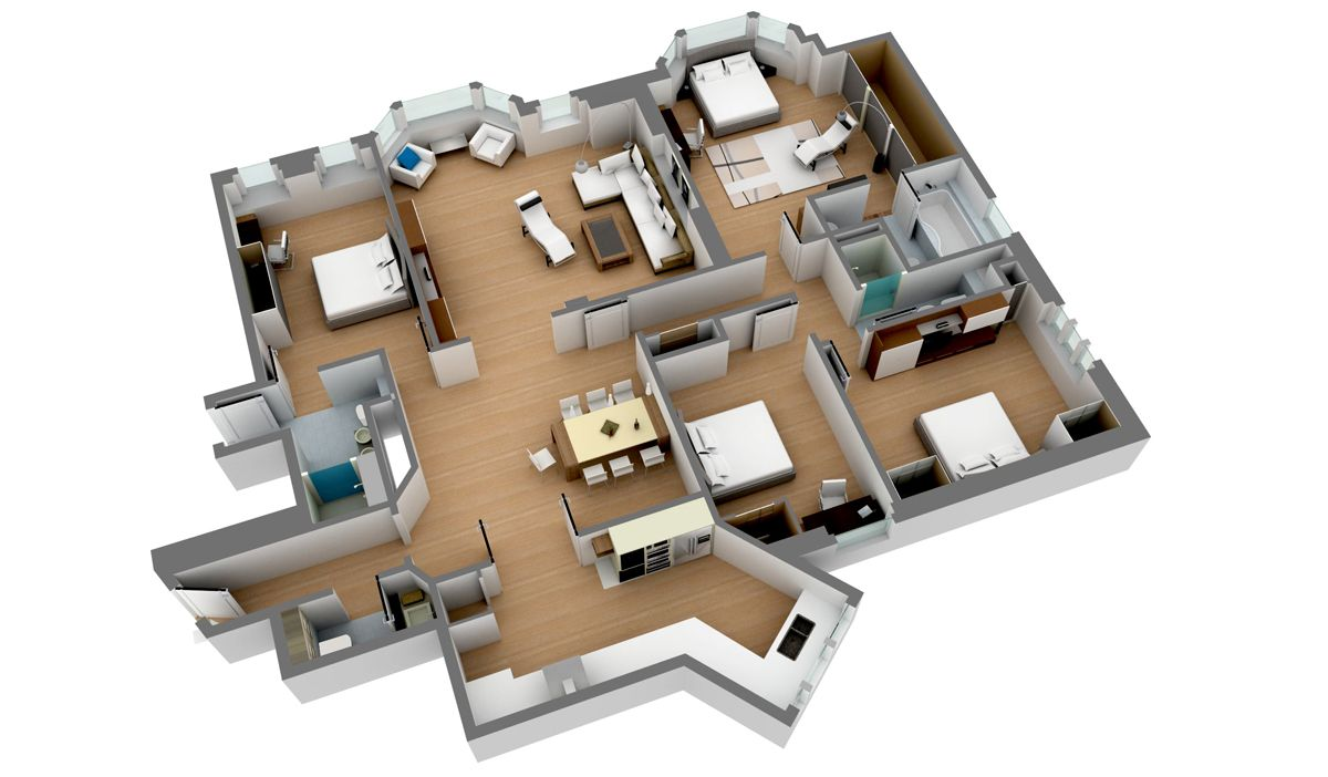 two story house plans 3d google search houses apartments layouts pinterest. Black Bedroom Furniture Sets. Home Design Ideas