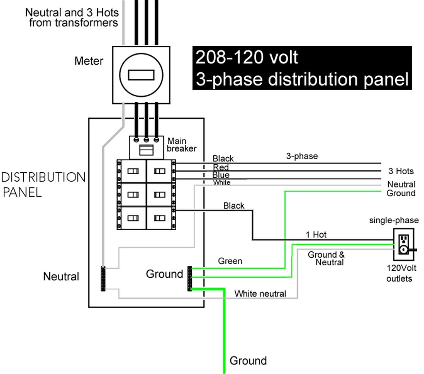 Wiring Diagram For 220 Volt Single Phase Motor | Power ...