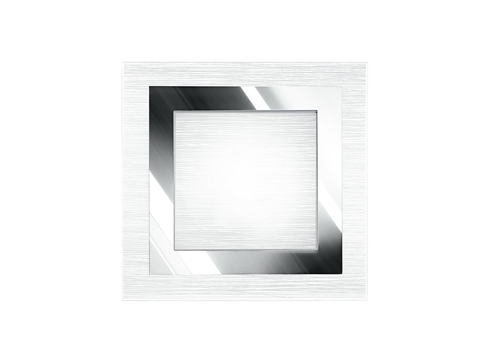 Plafoniera Quadrata Led : Plafoniera quadrata in vetro i oak pl q struttura metallo e