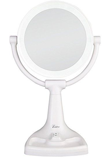 Zadro Max Bright Sunlight Dual Sided Vanity Mirror White