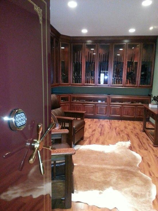 Ridiculous and awesome gun safe room Man cave Pinterest Safe