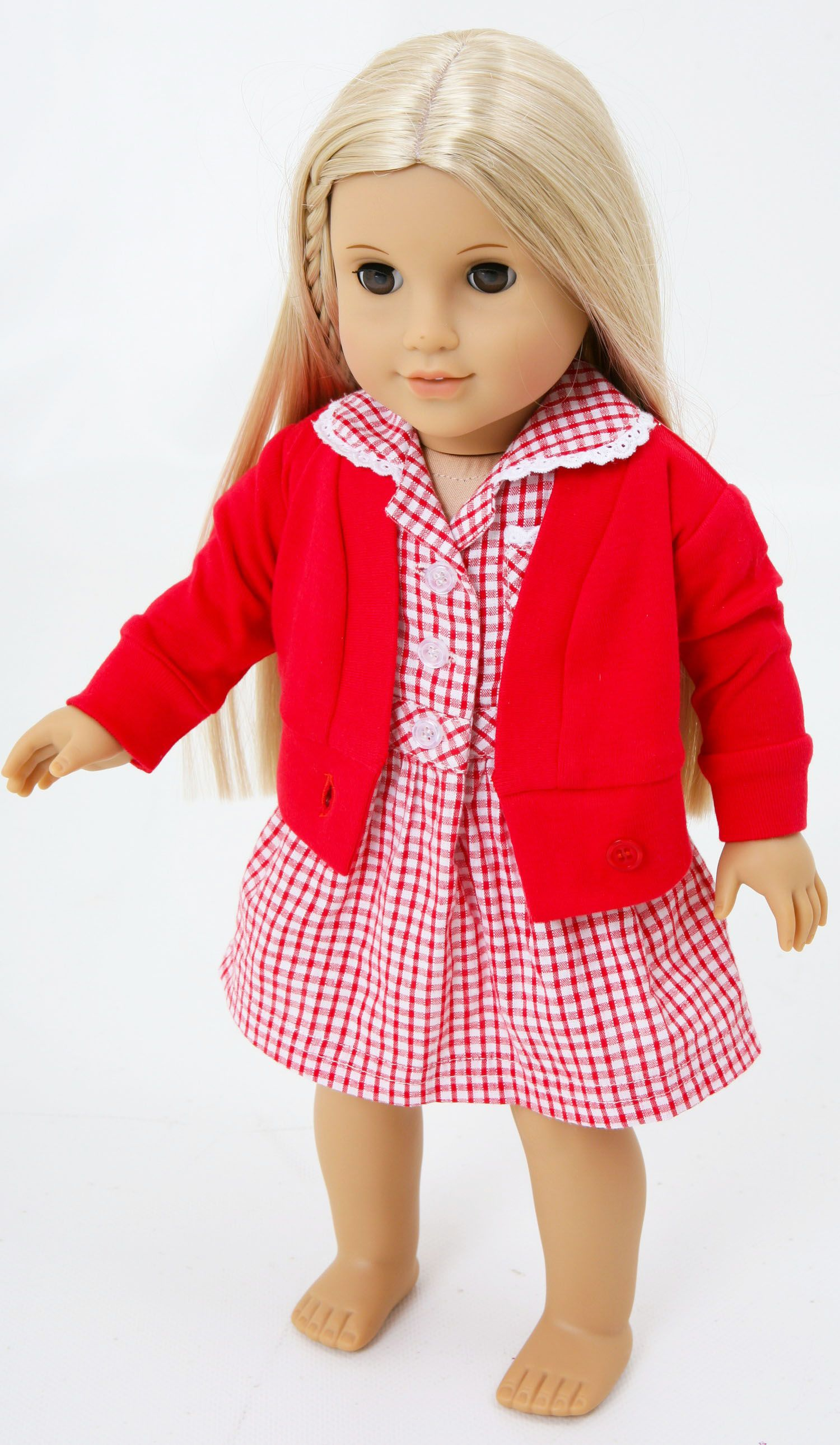 American Girl Doll In Her Frilly Lily Summer School
