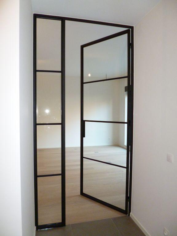 Stalen deur google zoeken interior pinterest thuis - Glazen salontafel en smeedijzer ...