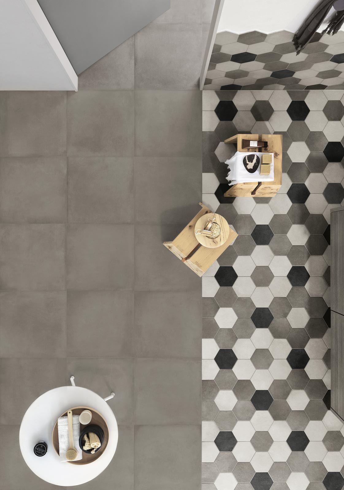 Collezione rewind gres porcellanato effetto cemento ragno pavimenti rivestimenti in 2018 - Piastrelle esagonali gres porcellanato ...