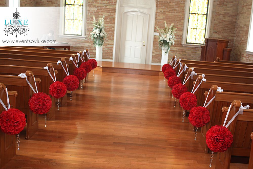 Burgundy And White Wedding Decor In London Ontario