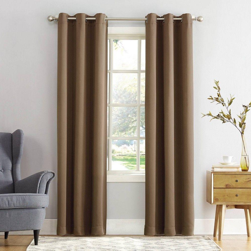 Kenneth Blackout Energy Efficient Grommet Curtain Panel Blush 40