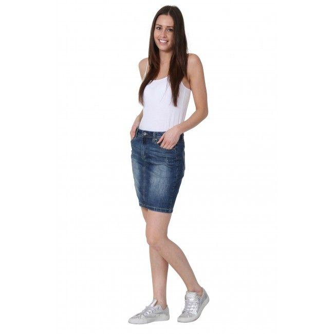 Trisha' Short Denim Skirt. Classic jean skirt from ...