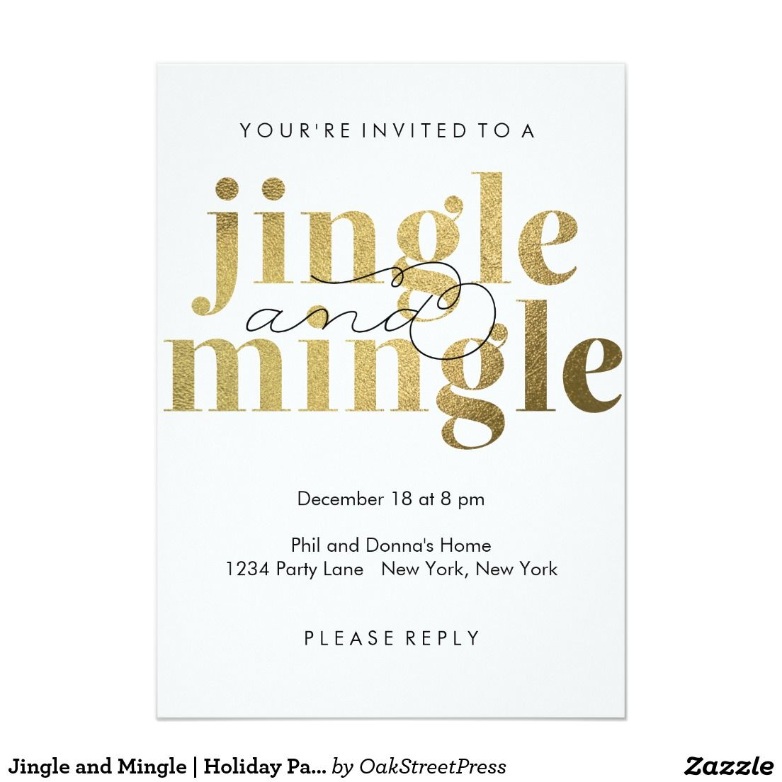 Jingle and Mingle | Holiday Party Invitations | Holiday party ...