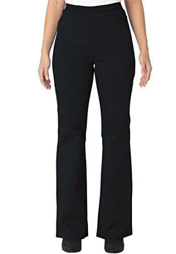 484269b77dd Jessica London Women s Plus Size Petite Bootcut Denim Stretch Jeggings  Black